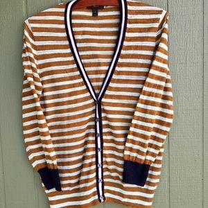 J.Crew School Stripe Cardigan